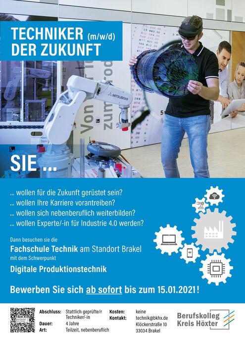 Plakat Techniker der Zukunft